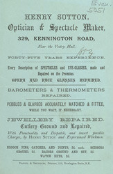 Advert for Sutton's Opticians 5051